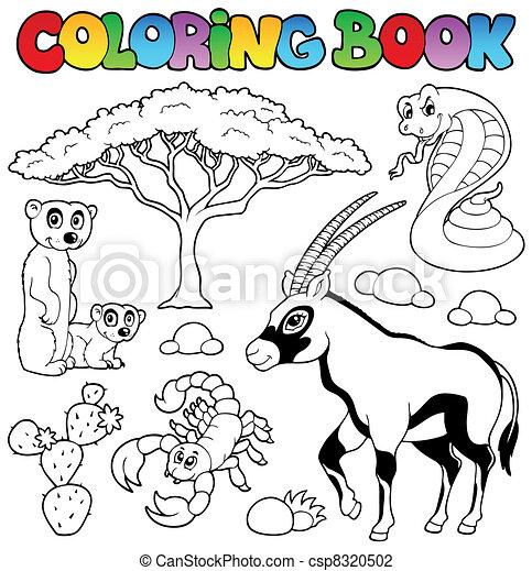 Coloring book savannah animals 1 - csp8320502
