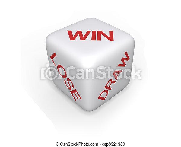 Win, Lose or Draw Dice - XL - csp8321380