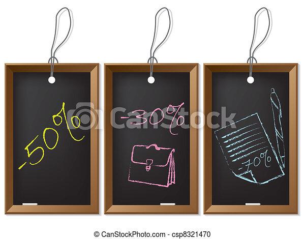 Cool new labels for school materials - csp8321470