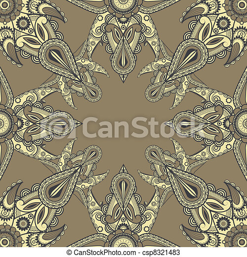 vector eastern style pattern - csp8321483
