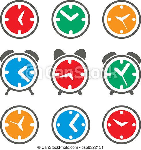 vector set of colorful clock symbols - csp8322151