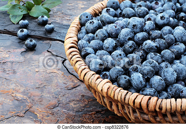 Fresh Blueberries - csp8322876