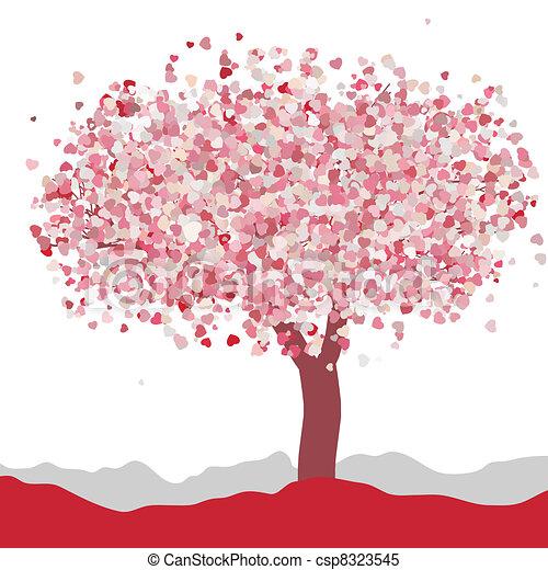 Love card design. Wedding or Valentine. EPS 8 - csp8323545