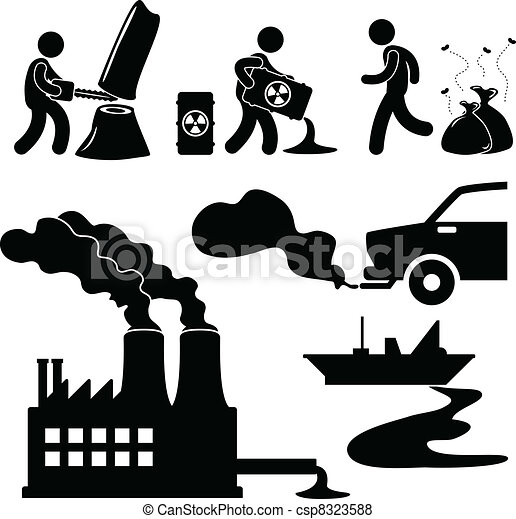 Global Warming Pollution Green Icon - csp8323588