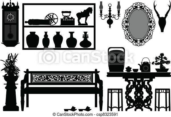 Old Antique Traditional Furniture - csp8323591
