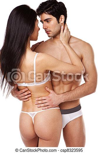Sexy Couple In Underwear - csp8323595