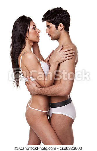 Loving Couple In Tender Embrace - csp8323600