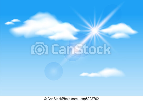 Clouds  and  sunshine - csp8323762