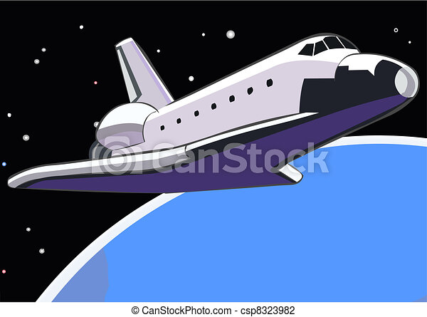 Space shuttle in orbit - csp8323982