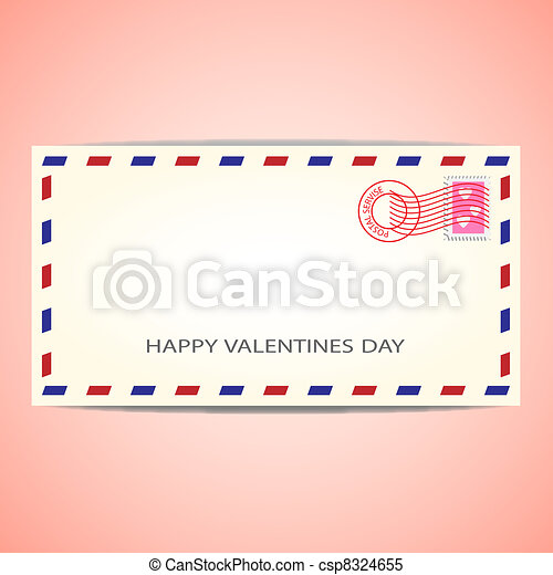 Air mail envelope - csp8324655