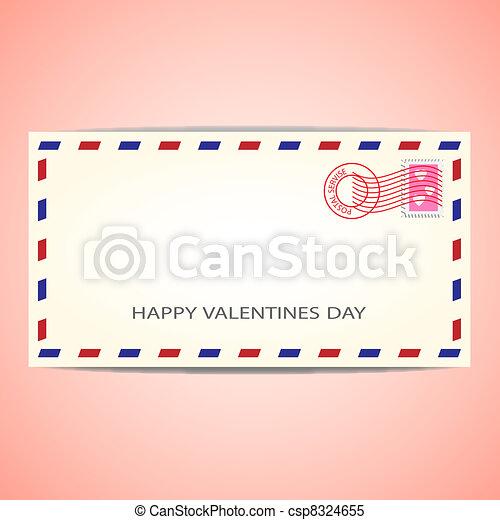 Air mail envelope - csp8324655