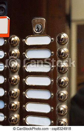 nameplates at a doorway - csp8324918