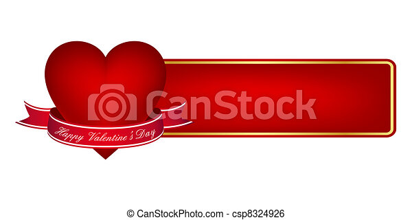 Valentine's day banner - csp8324926