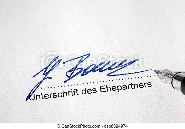 signature of spouse - csp8324974