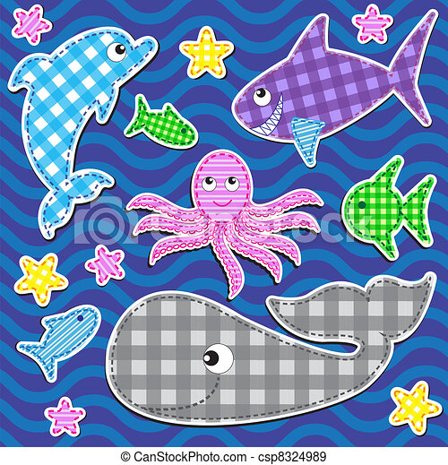 Marine animals - csp8324989