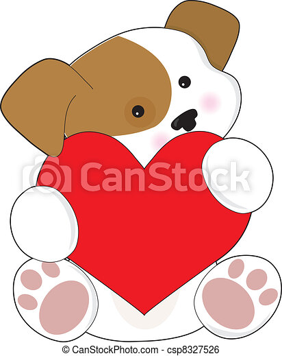 Cute Puppy Valentine - csp8327526