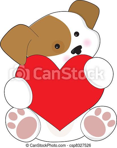 Cute Puppy Valentine - csp8327526