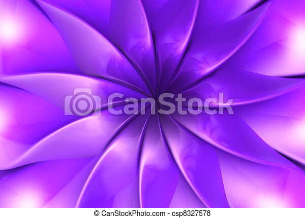 Purple fantasy flower petal - csp8327578