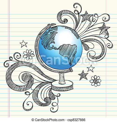 clip art vektor von planet doodles sketchy erdball
