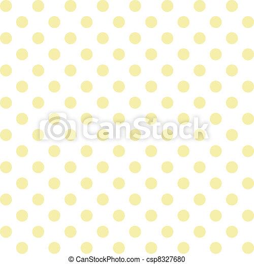 Polka Dots, Pastel Seamless Pattern - csp8327680