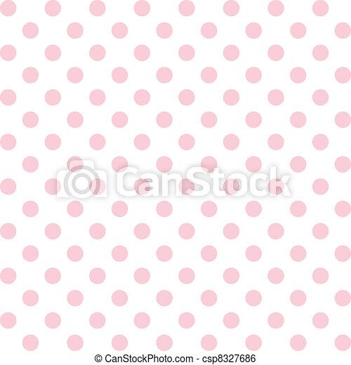 Polka Dots, Pastel Seamless Pattern - csp8327686