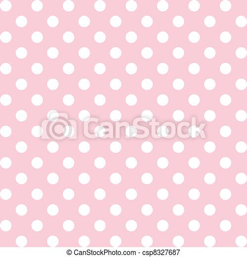 Polka Dots, Pastel Seamless Pattern - csp8327687