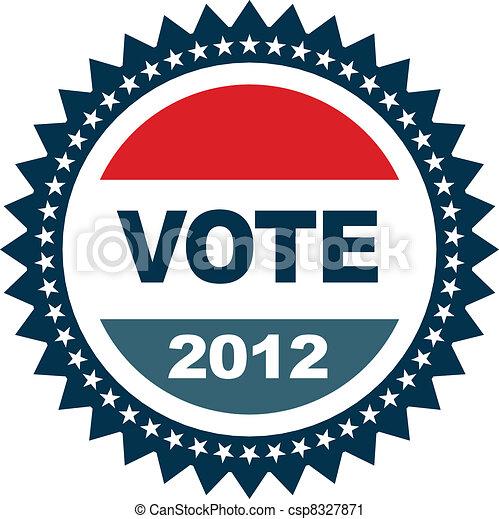 Vote 2012 insignia - csp8327871
