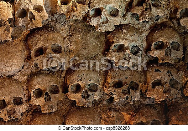 Wall full of skulls - csp8328288