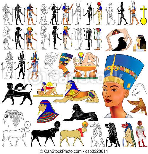 vector- Ancient Egypt - csp8328614