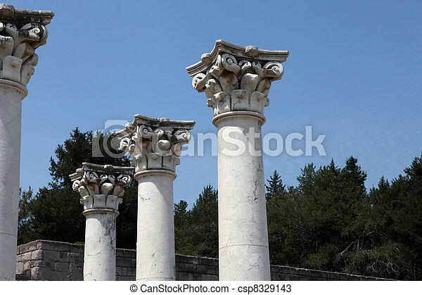 Asklepion place on the island of Kos where Hippocrates has built one of the first hospitals in the European civilization - csp8329143