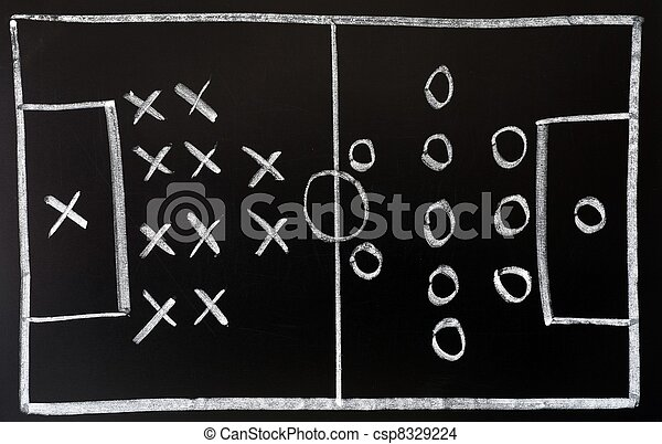 Soccer formation tactics on a blackboard - csp8329224