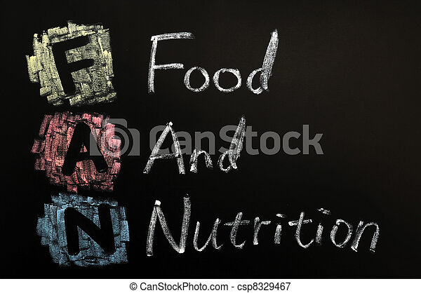 Acronym of FAN - Food and nutrition - csp8329467