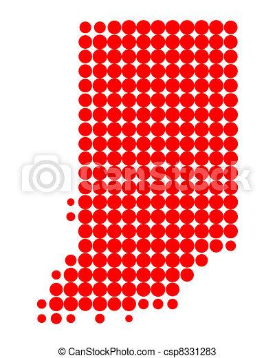 Map of Indiana - csp8331283
