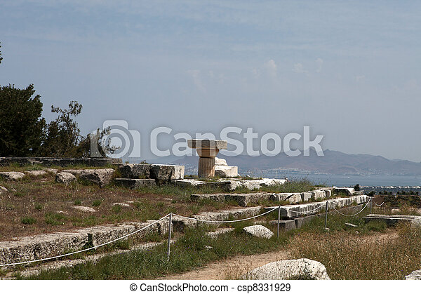 Asklepion place on the island of Kos where Hippocrates has built one of the first hospitals in the European civilization - csp8331929