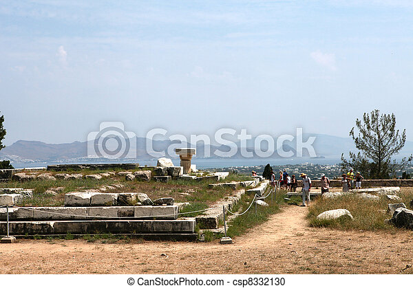 Asklepion place on the island of Kos where Hippocrates has built one of the first hospitals in the European civilization - csp8332130