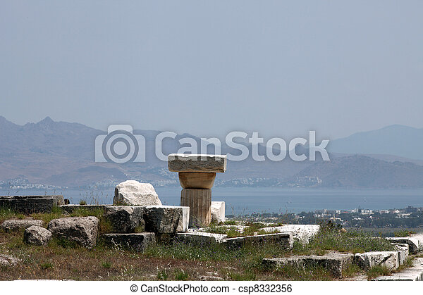 Asklepion place on the island of Kos where Hippocrates has built one of the first hospitals in the European civilization - csp8332356