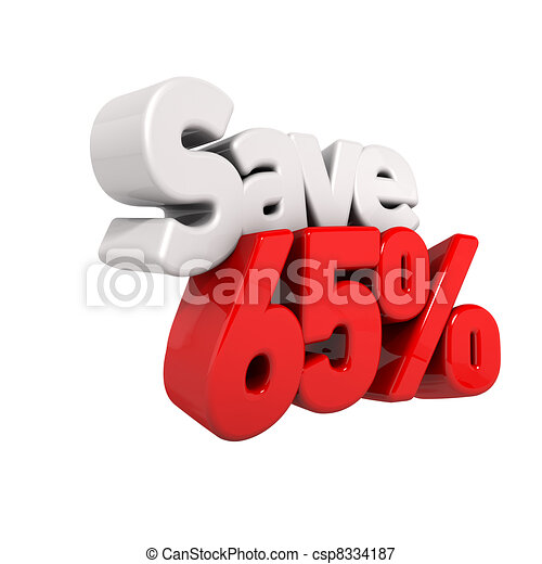 sixty-five Percent Price Reduction And Save - csp8334187