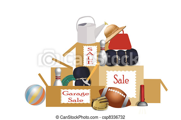garage sale - csp8336732