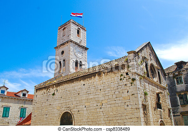 Historic church in Croatia, Balkans - csp8338489