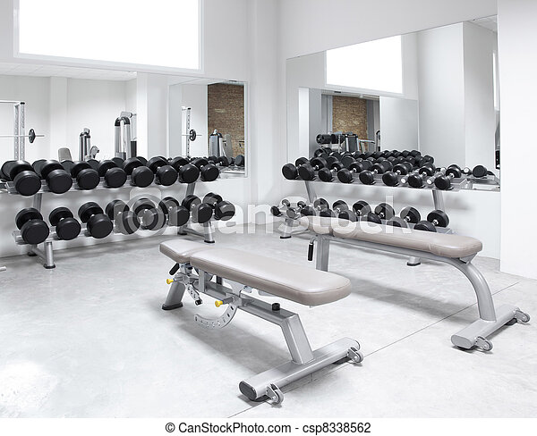 Stock Photo Of Fitness Club Weight Training Equipment Gym