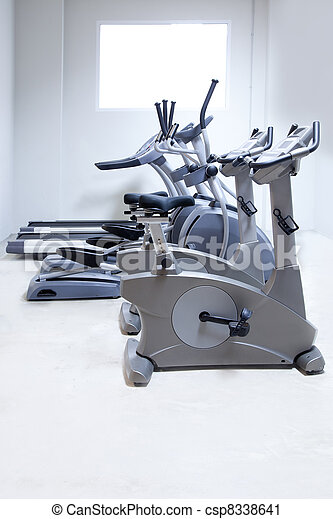 elliptical cross trainer, stationary bicycle treadmill  - csp8338641