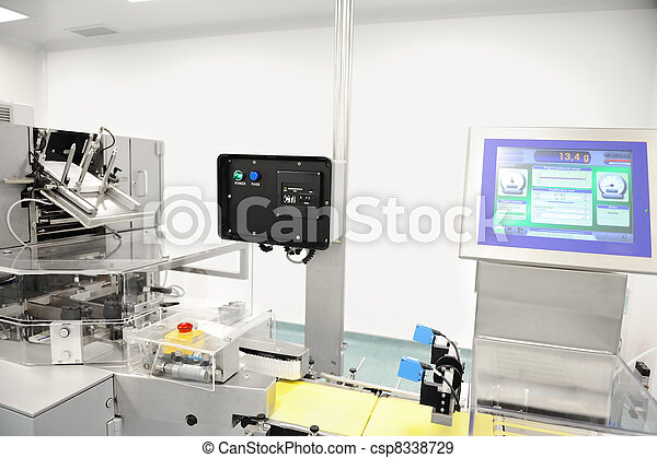 Automated production line in modern factory - csp8338729