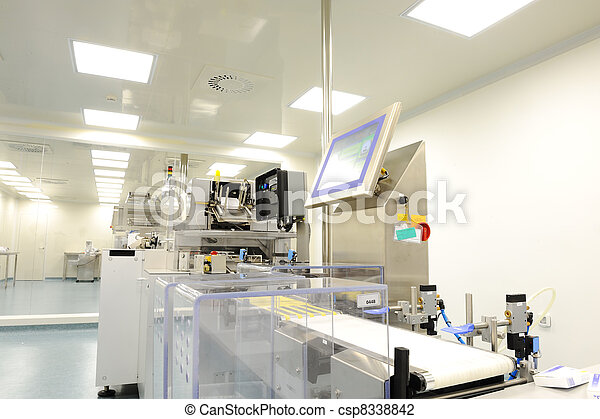 production line in modern factory - csp8338842