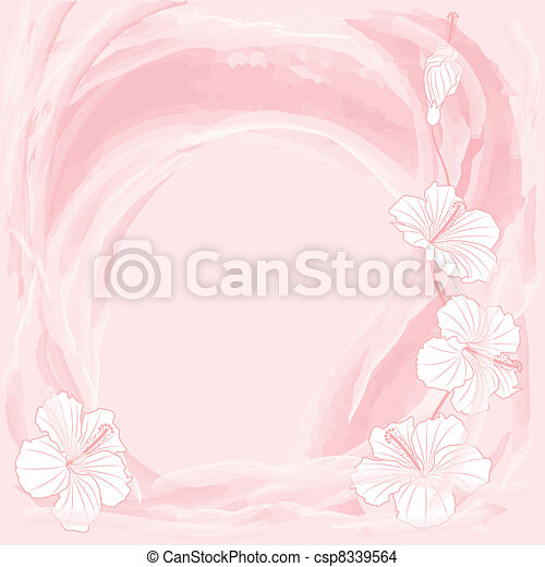 romantic floral background - csp8339564