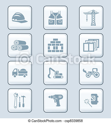 Construction icons | TECH series - csp8339858