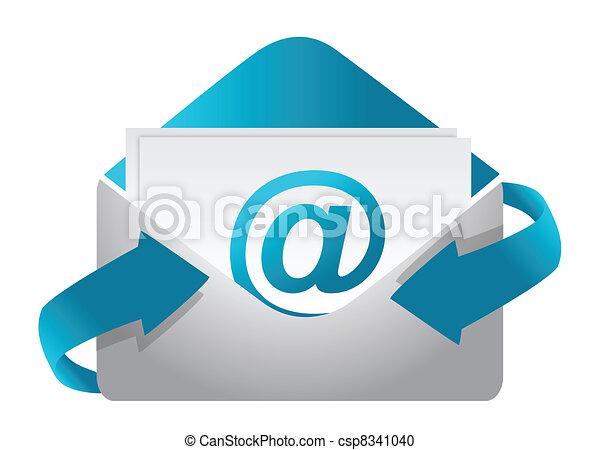 E-mail concept illustration design  - csp8341040