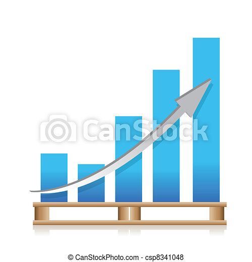 cargo shipping sales graph - csp8341048