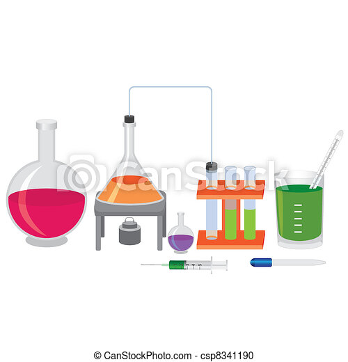 Chemical experiment with fluids. - csp8341190