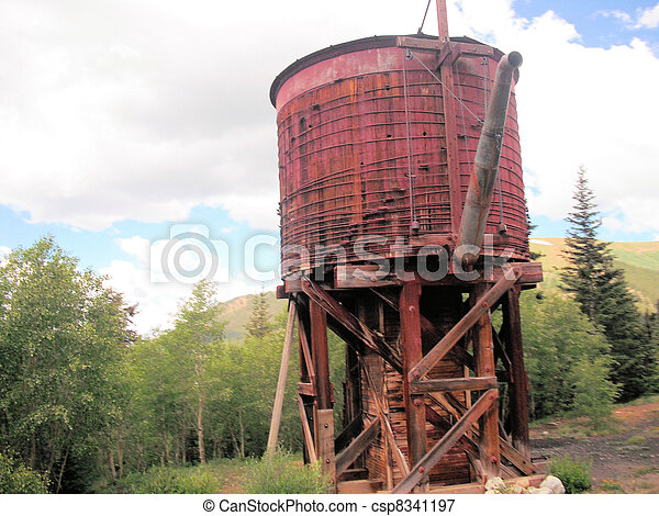 Old Red Water Tower - csp8341197