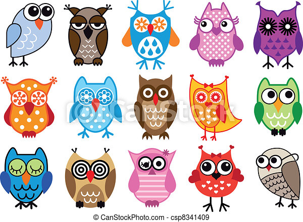 vector owls - csp8341409